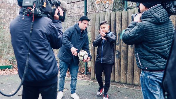 Ben trifft Lil Shrimp - den jüngsten Rap-Star Deutschlands. | Rechte: KiKA/Alex Huth