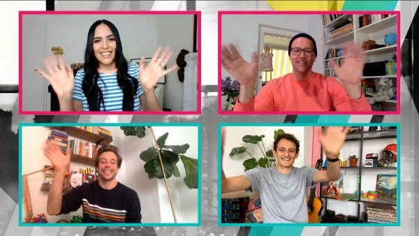 Ben und Jess fordern Checker Tobi und Checker Julian heraus. Wer wird das glorreiche Siegerteam sein? | Rechte: KiKA/Lea Teschauer