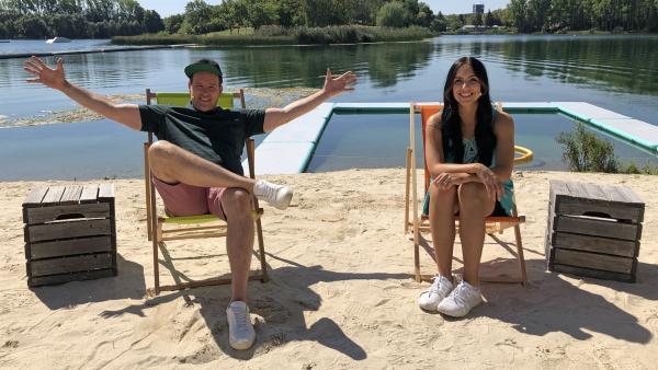 Ben und Jess blicken auf die vergangene Woche und ihre wunderbaren Gäste zurück. | Rechte: KiKA/Stefanie Jung