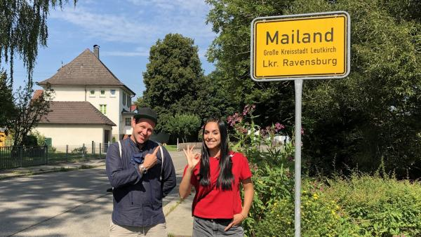 Ben und Jess kommen auf ihrer Weltreise nach Mailand. | Rechte: KiKA/Grit Häfer