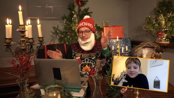 Ben trifft Jella Haase im Videochat. | Rechte: KiKA