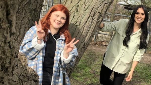 Jess trifft Leonie Greiner aka Loi   Rechte: KiKA