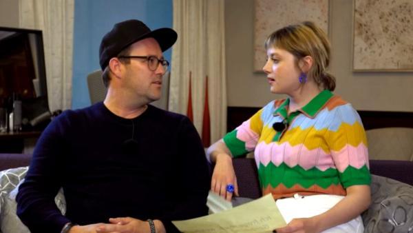 Ben trifft Jella Haase | Rechte: KiKA/ Stephanie Paersch
