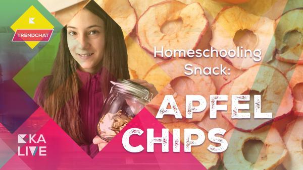 Trendchat Homeschooling-Snack: Celinas Apfelchips | Rechte: KiKA
