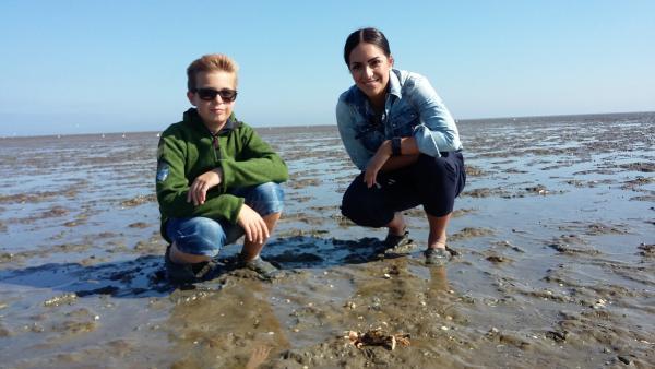 KiKA LIVE-Moderatorin Jess unterwegs im Wattmeer | Rechte: KiKA