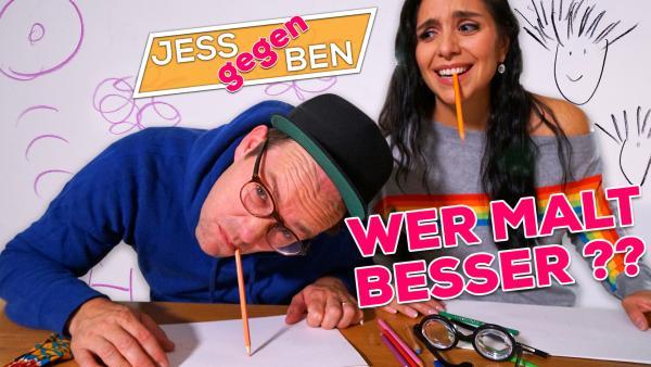 Jess gegen Ben - Wer malt besser? | Rechte: KiKA / Franziska Gruber
