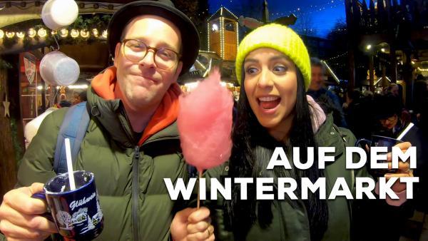 Follow me aorund - Jess und Ben auf dem Wintermarkt | Rechte: KiKA