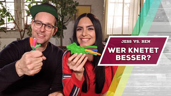 Jess vs. Ben - Wer knetet besser? | Rechte: KiKA