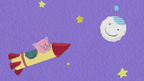 Das Schwein besucht den Mond | Rechte: KiKA