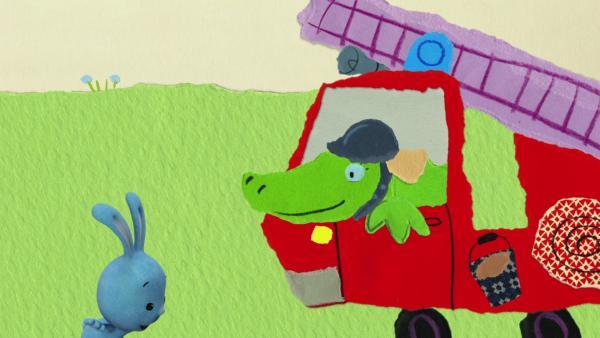 Farbe marsch für Feuerwehr und Krokodil | Rechte: KiKA