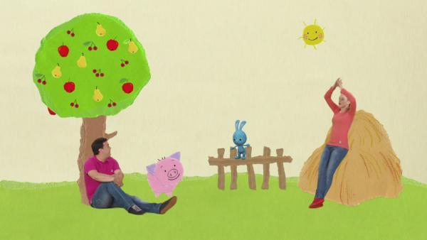 Kikaninchen, Anni und Christian bauen einen Bauernhof | Rechte: KiKA
