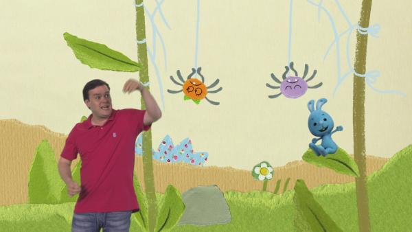 Kikaninchen, Christian und die Spinnen | Rechte: KiKA
