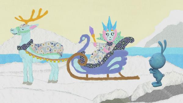 Kikaninchen tanzt mit der Schneekönigin | Rechte: KiKA