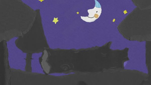 Kikaninchen zieht durch den dunklen Wald | Rechte: KiKA
