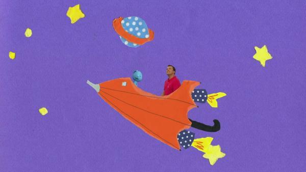 Regenschirmraketenstart | Rechte: KiKA