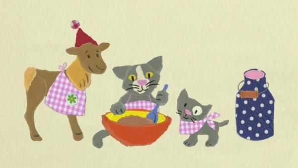 Tonki fliegt mit dem Kätzchen | Rechte: KiKA