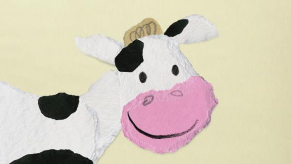 Eine Kuh verschluckt die Fliege | Rechte: KIKA