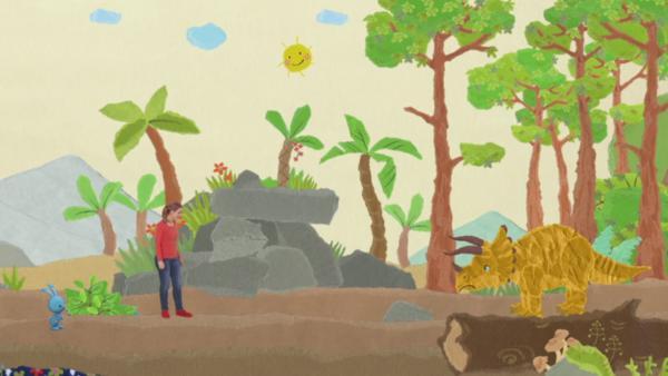 Bekanntschaft mit einem Dreihorn | Rechte: KiKA