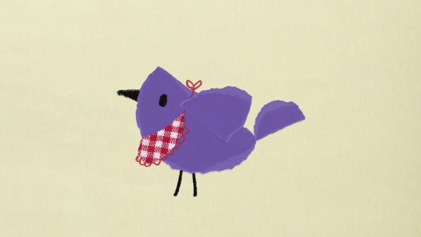 Der Vogel frisst Kaugummis | Rechte: KiKA