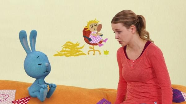 Rapunzel mit Perücke | Rechte: KiKA