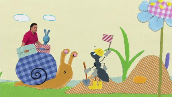 Begrüßung Schnecke Ei | Rechte: KiKA