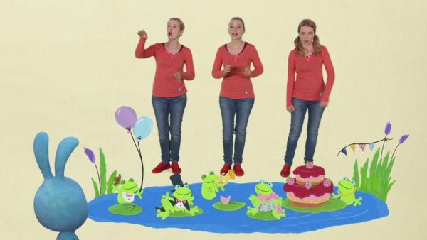 Anni singt den Fröschekanon | Rechte: KiKA