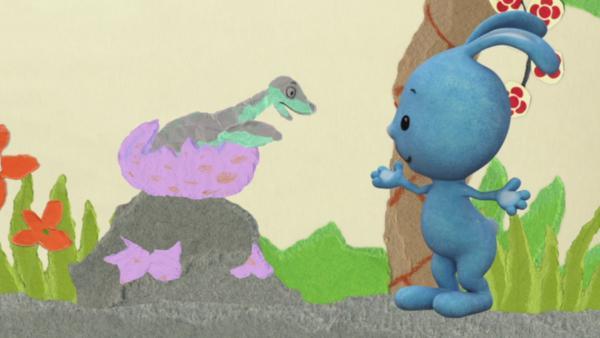 Anni und Kikaninchen retten das Dino-Baby | Rechte: KiKA
