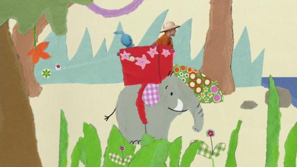 Unterwegs auf einem Elefanten | Rechte: KiKA