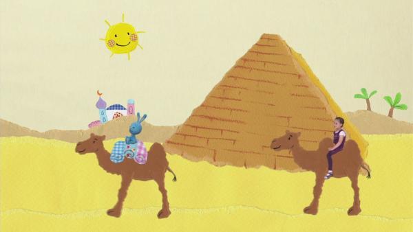 Auf einem Kamel zur Limo-Oase | Rechte: KiKA