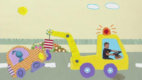 Der Abschleppwagen hilft | Rechte: KiKA