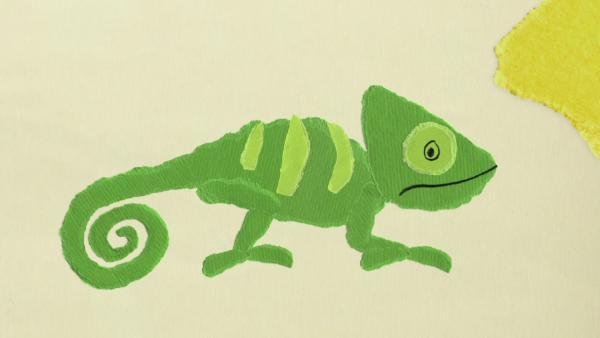 Das Chamäleon trickst das Krokodil aus | Rechte: KiKA