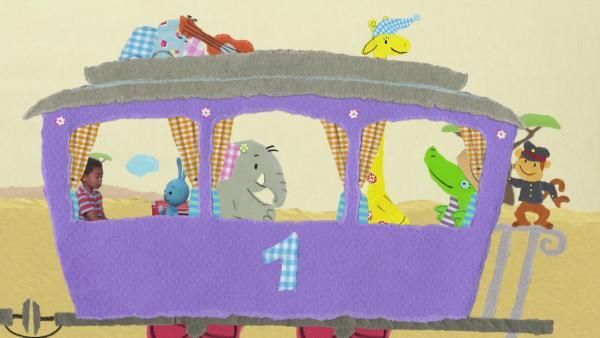 Eine aufregende Zugfahrt | Rechte: KiKA