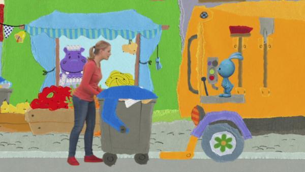 Kikaninchen und Anni entsorgen den Müll | Rechte: KiKA