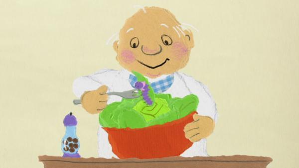 Opa Willi rettet die Raupe | Rechte: KiKA