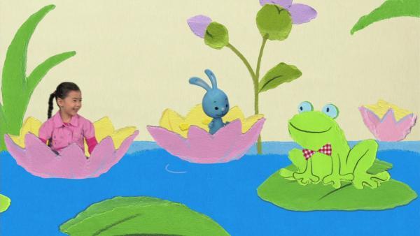 Mit der Seerose über den Teich | Rechte: KiKA