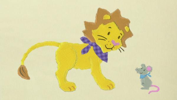 Die kleine Maus rettet den großen Löwen | Rechte: KiKA