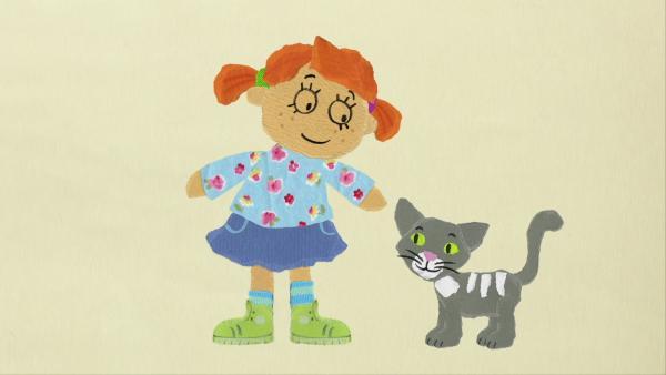 Claras Katze strickt | Rechte: KiKA