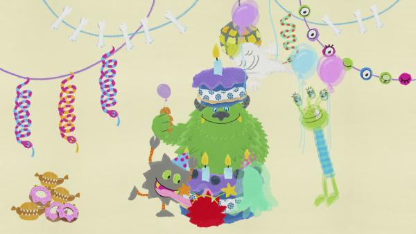 Eine monstermäßige Party | Rechte: KiKA