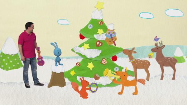 Ein Konzert im Weihnachtswald | Rechte: KiKA