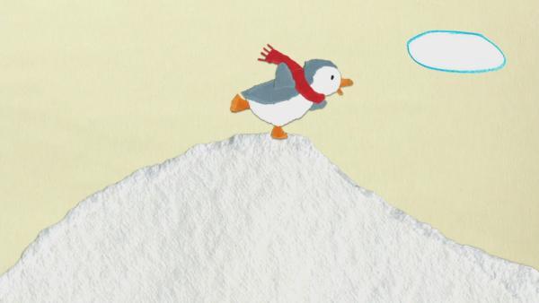 Der Pinguinrutschflug | Rechte: KiKA