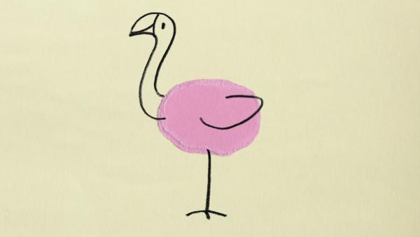Rosafarbenes Ei | Rechte: KiKA
