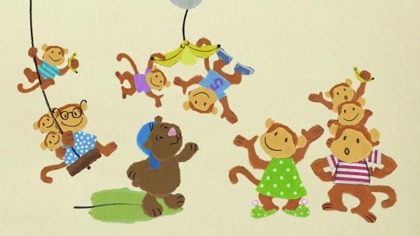 Bär Bruno besucht den Affen Carl | Rechte: KiKA