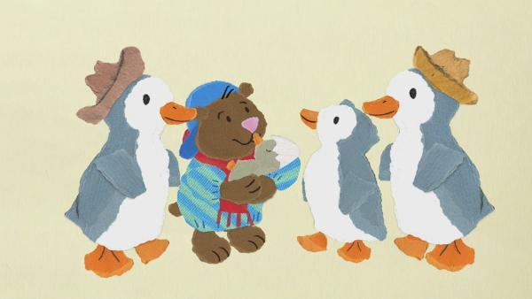 Bär Bruno besucht Pinguin Jakob | Rechte: KiKA