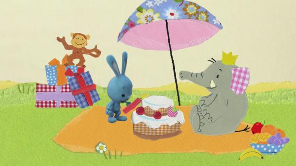 Versteckspiel auf der Elefantenparty | Rechte: KiKA