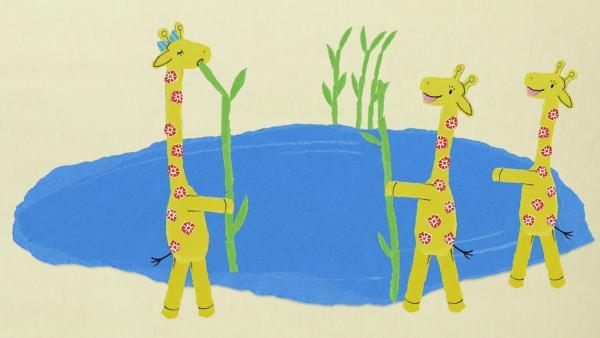 Giraffe Gerda und der Strohhalm-Trick | Rechte: KiKA