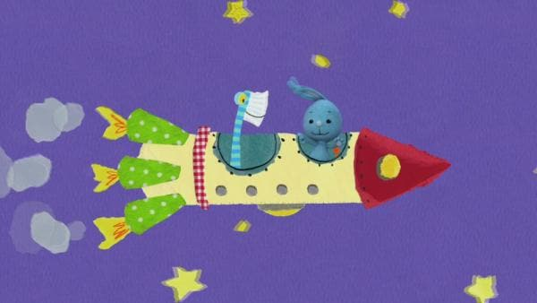 Mit der Rakete zu Galaktofisch | Rechte: KiKA