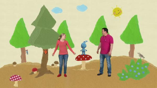 Picknick im Schnipselwald | Rechte: KiKA
