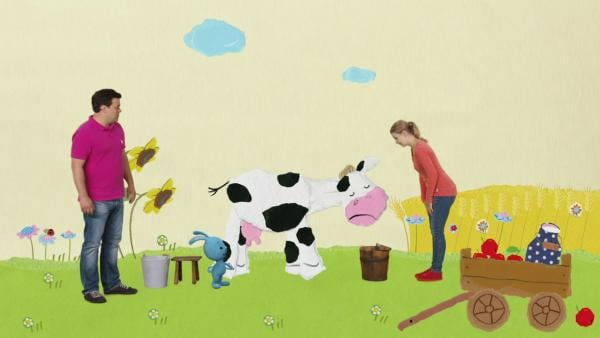 Ausgebüchste Ferkel auf dem Bauernhof | Rechte: KiKA