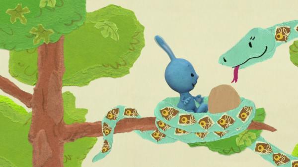 Kikaninchen fällt in ein Schlangennest | Rechte: KiKA