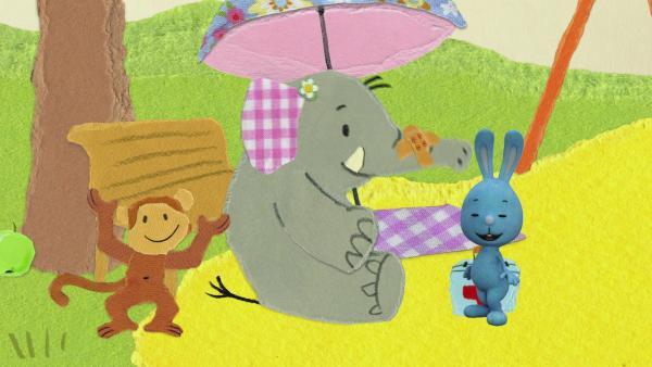 Der Elefant tut sich weh | Rechte: KiKA